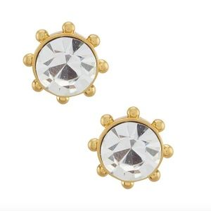 NWT KATE SPADE FLYING COLOR BEZEL STUD EARRINGS